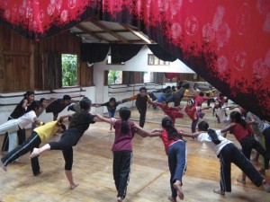Gabriela (Gabi to her students) leading a dance exercise