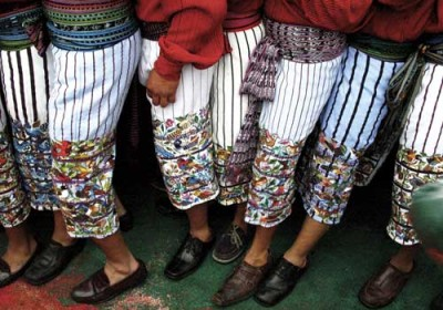 The men's traje of Santiago features rows and rows  of hand-embroidered birds. (photo: Victoria Stone)