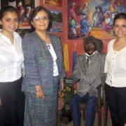 Ms. García with daughters Inés (left) and Pilar (right)