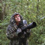 Janson scouts the area for wildlife activity