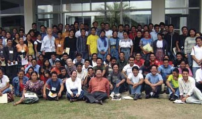 2009 conference participants on developing community-service projects