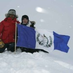 From the Maya to the North Pole: De Paz plants the Guatemalan flag at the top of the world.