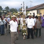 Indigenous cofradía procession on Holy Thursday in Izalco, 2009 by Lena Johannessen