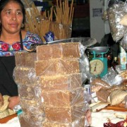 Panela (sugar) in 2½ lb. loaves at the mercado