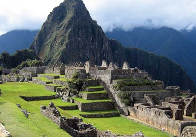 Ruins of Inca citadel at Machu Picchu