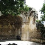 Ruin said to be chapel of Beatriz de la Cueva, adjacent to Ciudad Vieja municipal building