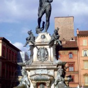 Antigua's main fountain was inspired by this Neptune Fountain located in the Piazza del Nettuno, Bologna, Italy.