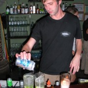 Mixing margaritas on his last night at Monoloco