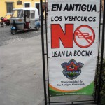 No blowing horns in Antigua Guatemala