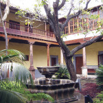 Courtyard of municipal building in San Cristóbal de La Laguna, Tenerife, resembles colonial structures in La Antigua Guatemala.