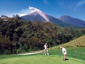 Fuego Maya Golf Course is distinct in the world for its 4-volcano view. (photo: JB)