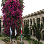 The front gardens of Quetzaltenango's Municipal Palace by Harry Díaz