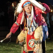 Last year a visiting dignitary representing the Apache Nation from New Mexico performed one of their sacred dances.