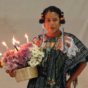 Maya girls from all over the country, each dressed in gorgeous traditional ceremonial costumes, compete for the title.