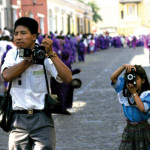 6-year-old Marta captures images during Holy Week