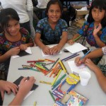 Young artists prepare for the art festival