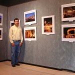 Harry Diaz with his exhibition