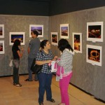Visitors to exhibit