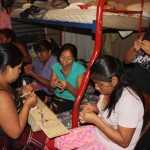 Through the project, the women also receive free day care for their children, access to a medical clinic, two meals a day and classes on nutrition and financial planning.