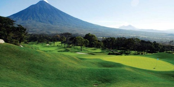 Fuego Maya Golf Course is distinct in the world for its 4-volcano view.   (photo:  Ricky Lopez)