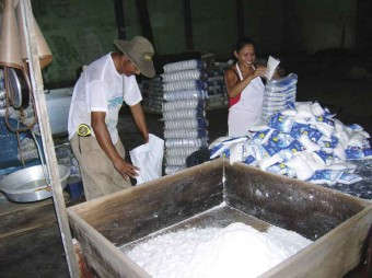 She sells sea salt by the seashore: packaging salt at the Sol y Mar factory