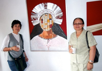 B'atz 2012 Inauguration at Galería Panza Verde of the works by the Guatemalan artist Antonio Pichillá