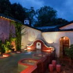 Fountain and water tank at Mil Flores Luxury Design Hotel La Antigua Guatemala