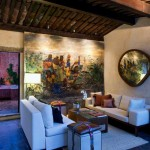 Living room at Mil Flores Luxury Design Hotel La Antigua Guatemala
