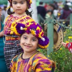 Girls dressed in typical clothing for the Feast of Our Lady of Guadalupe in Antigua Guatemala (photo by Cesar Tian)