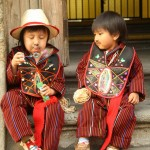 Boys dressed in typical clothing for the Feast of Our Lady of Guadalupe in Antigua Guatemala (photo by Luis Toribio)