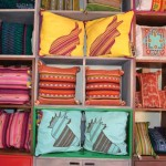 Colorful throw pillows of Tribu