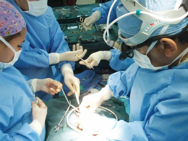 Open heart surgery in Guatemala City