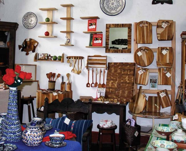 A small sampling of handmade items from one of the many showrooms in Casa de los Gigantes