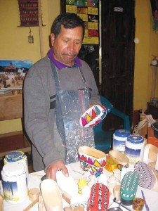 García at work in his studio