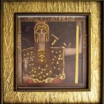 Ancient Greek goddess Pallas Athena—print of Gustav Klimt original, gold-enhanced by Thompson