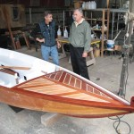 Pierre Turlin and Jean Vayssier in their Antigua workshop.