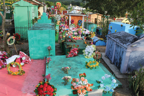 Amalia's Grandmother's town, Quezaltepeque, at the cemetary on All Saints Day