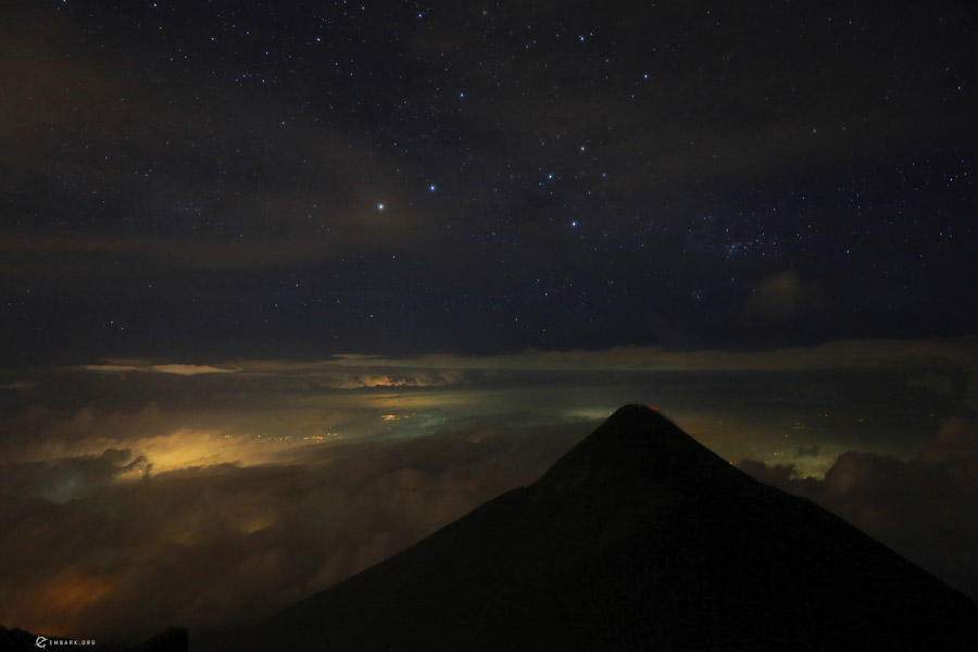 Guatemalan Volcano night